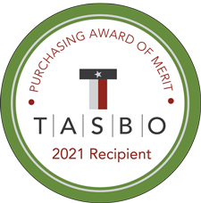 TASBO Purchasing Award of Merit - 2021 Recipient