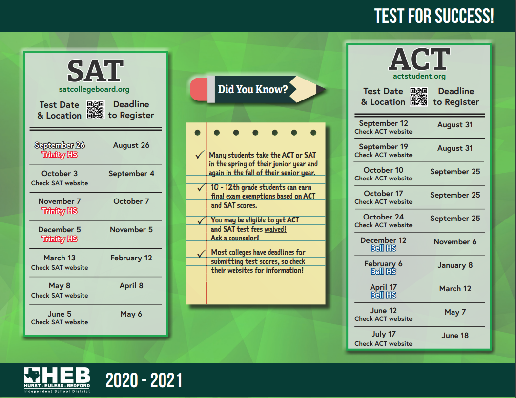 Sat Calendar 2021 Getting Ready for College / Getting Ready for College