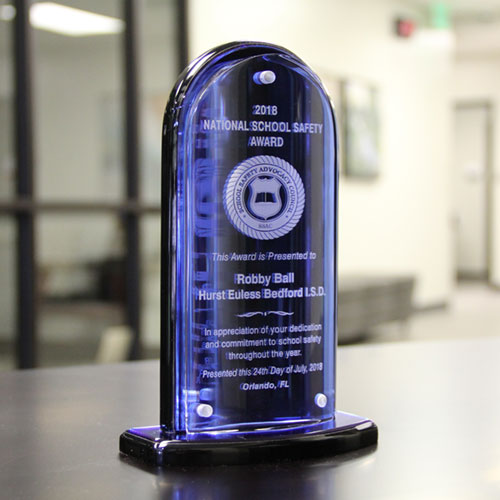 National Safety Award for Robby Ball from School Safety Advocacy Council