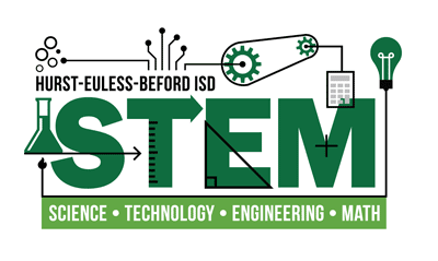 Logo of Hurst-Euless-Bedford ISD STEM - Science, Technology, Engineering, Math