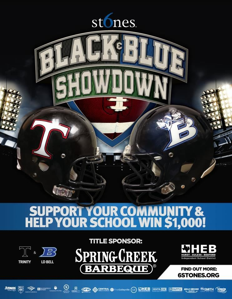 graphic promoting 6 Stones Black and Blue Showdown