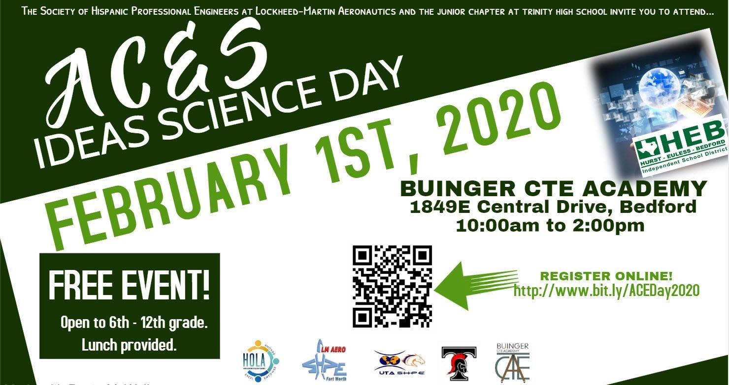 Promo graphic for IDEAS Science Day (transcript available on this page)