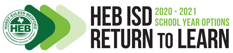 Logo for HEB ISD's Return to Learn - 2020-2021 School Year Options